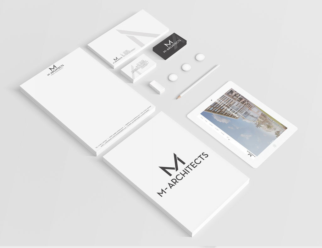 M-Architech Stationery Branding