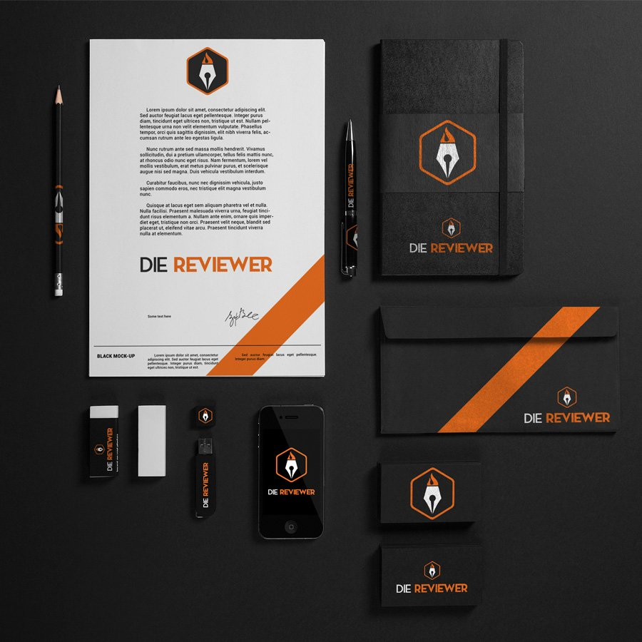 Die Reviewer Stationary Mockup image